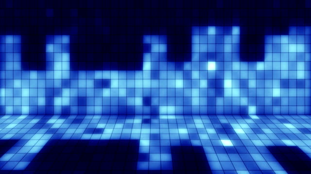 beaming blue squares musical loopable background video