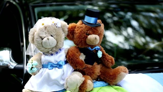 Bears on a Wedding Car video