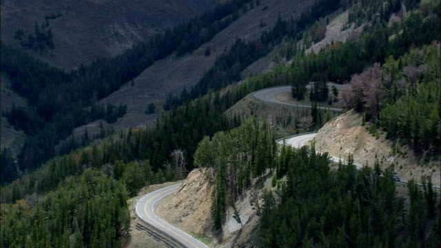 Beartooth Pass  - Aerial View - Montana, Carbon County, United States video