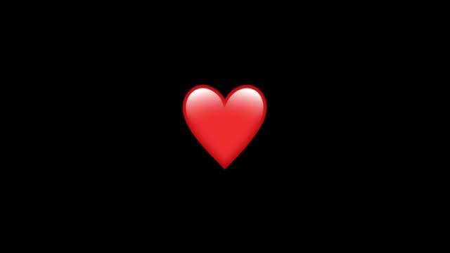 夜の背景を持つ心臓の動きのグラフィックを鼓動 - 心臓点の映像素材/bロール