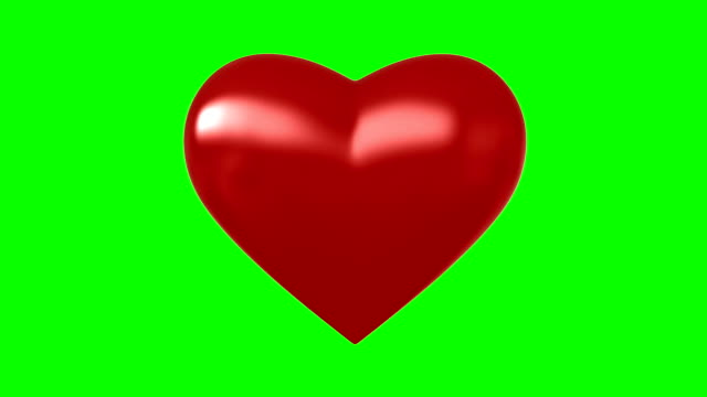 Beating heart 3d render of beating heart on green screen heart stock videos & royalty-free footage