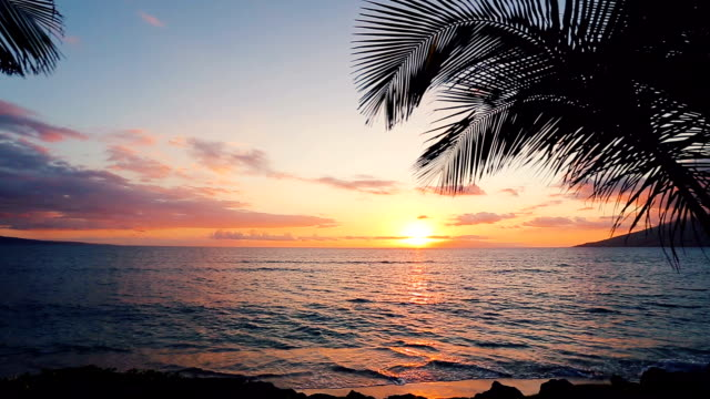 Beauitful Seascape Sunset over the Hawaiian Islands video