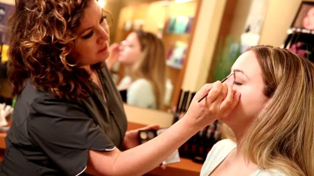 Beautician Applying Eyebrow Brush video