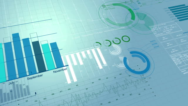 beautiful 3d animation of stock market information. financial figures and diagrams growing on digital background. hd 1080. - manager stock videos and b-roll footage