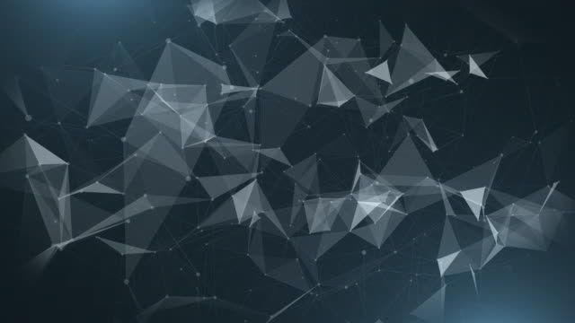 vacker abstrakt bakgrund med plexus nätverk som datakomplex molekyl och anslutning, vita cybernetiska punkter, stjärnor, linjer. abstrakt kreativ komposition, grå tapet, utrymme. loop animation. - nod bildbanksvideor och videomaterial från bakom kulisserna