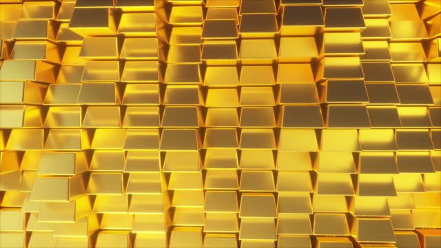 Beautiful abstract gold bars Beautiful abstract gold bars. The golden wall of blocks is moving. Seamless loop 4k cg 3d animation gold bars stock videos & royalty-free footage