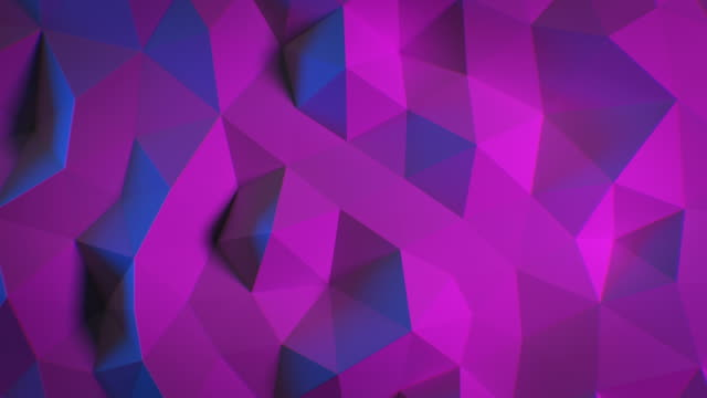 Schöne abstract Polygonal Surface Morphing in Blue and Purple Ultraviolet Light Looped 3d Animation. Farbwand bewegt sich nahtlos – Video