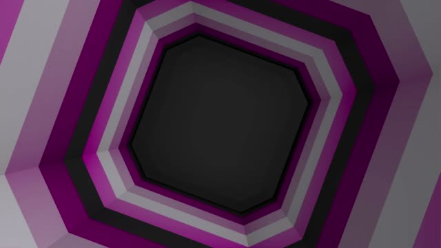 Beautiful Abstract Square Tunnel. Colored square tunnel