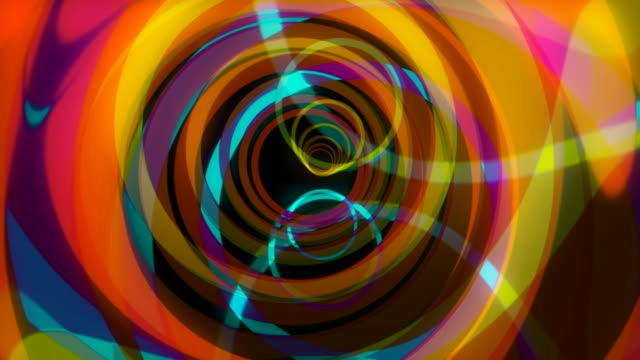 beautiful abstract trip seamless animation. hallucinations animation circles - circus стоковые видео и кадры b-roll