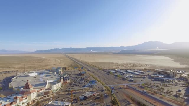 Beautiful Aerial shot over road in Nevada video