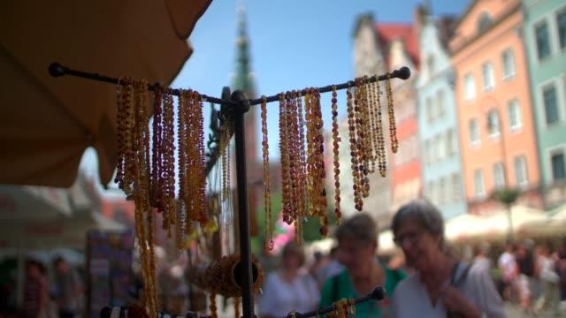 Beautiful amber beads