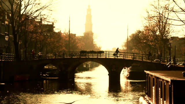 Beautiful Amsterdam Canal Scene video