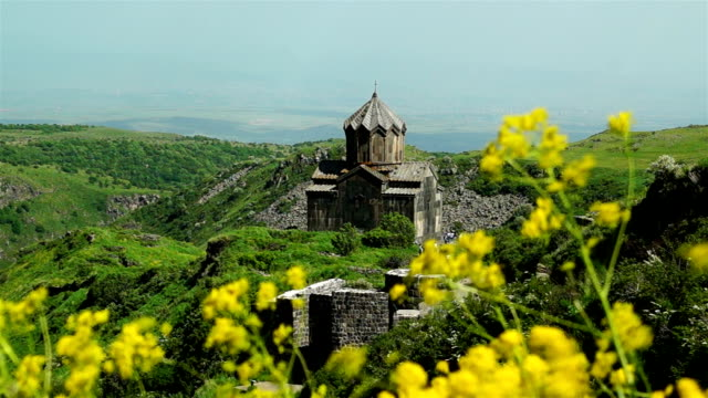 Beautiful ancient cathedral in Armenia video