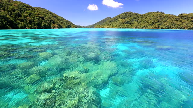 Beautiful andaman sea at Surin National Park snorkeling point Thailand video