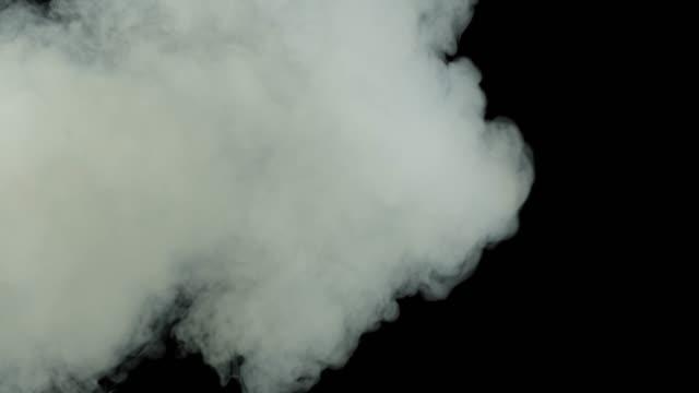 beautiful animation of fog on a black background alpha channel high quality – film