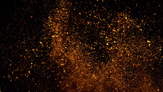 beautiful animation of multi-colored flying flickering particles scattered on a black background - make up stock videos & royalty-free footage