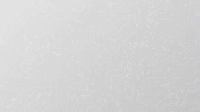 美しいアニメーション技術スクリーン セーバーの背景技術粒子神経叢 - 灰色点の映像素材/bロール