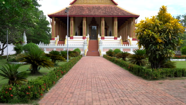 Beautiful Architecture at Haw Phra Kaew Temple in Laos video