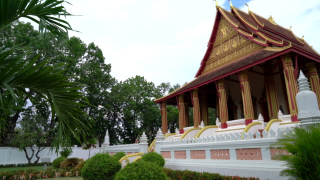 Beautiful Architecture at Haw Phra Kaew Temple video