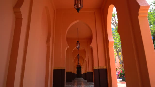 beautiful architecture morocco style - vintage architecture stock videos & royalty-free footage