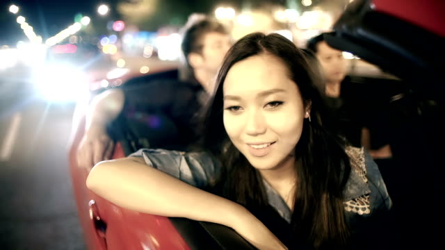 Beautiful Asian woman with pleasant thoughts. video