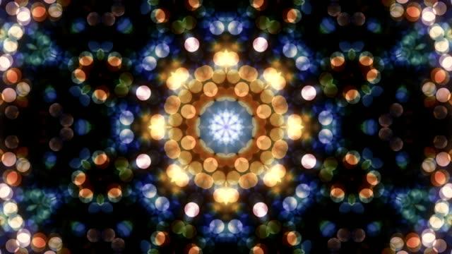 красивый фон петля - узор калейдоскоп стоковые видео и кадры b-roll