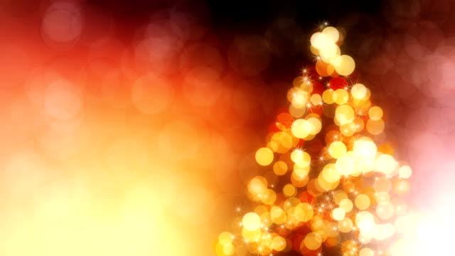 stockvideo's en b-roll-footage met mooie achtergrond met kerstboom lus - kerstboom