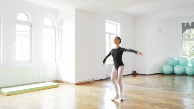 Beautiful ballerina dancing. video