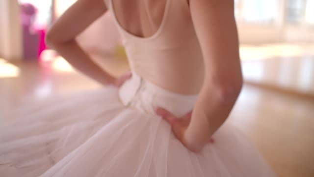 Beautiful ballerina in tutu dancing classical ballet video