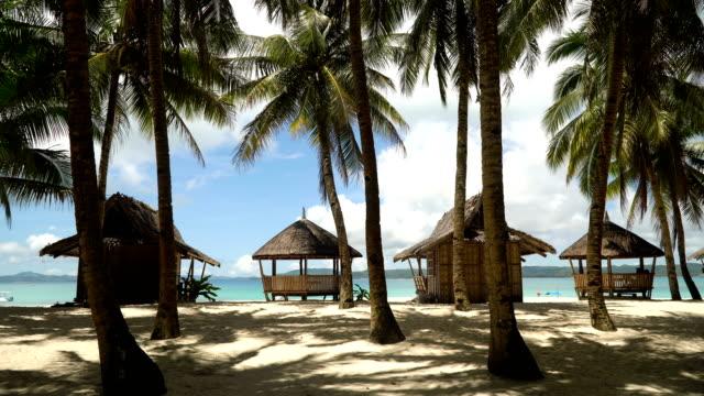 Beautiful beach on tropical island. Daco island, Philippines, Siargao video