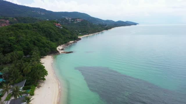 サムイ島スラタニー県(タイ)の美しいビーチビュー - サムイ島点の映像素材/bロール