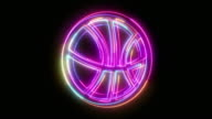 istock Beautiful black background of basketball ball icon 1213165198