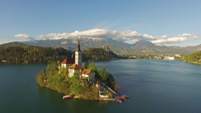 美しいブレッド湖 - スロベニア点の映像素材/bロール