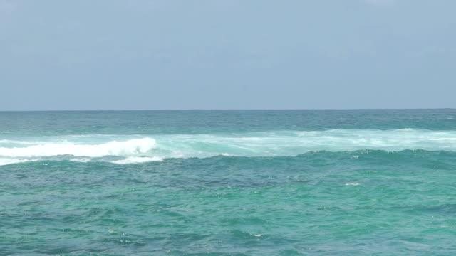 Beautiful Blue Giant Ocean Wave in slow motion video