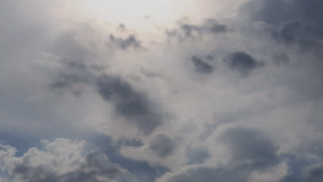 Beautiful blue sky with clouds background. Sky with clouds weather nature cloud blue. video