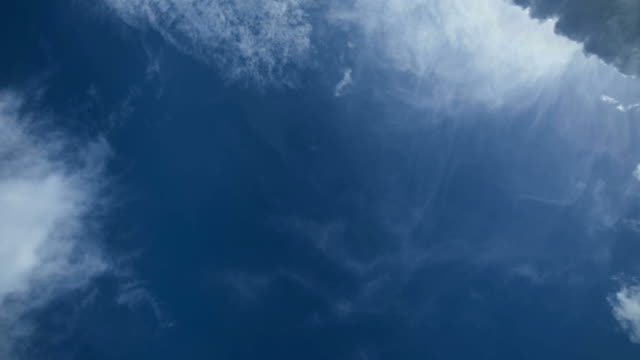 beautiful blue sky with clouds in motion time lapse - guardare in su video stock e b–roll