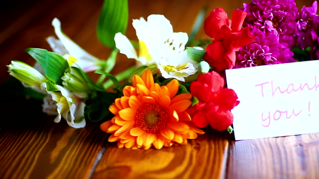 beautiful bouquet of different flowers video