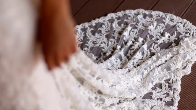 beautiful bride in a white dress - wedding fashion stock videos and b-roll footage