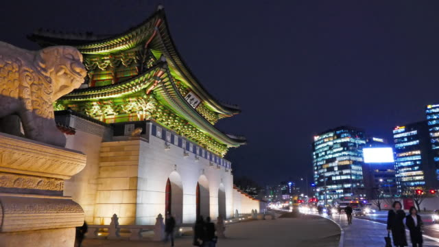 韓国の美しい建物の建築キョンボクグン宮殿 - 名所旧跡点の映像素材/bロール