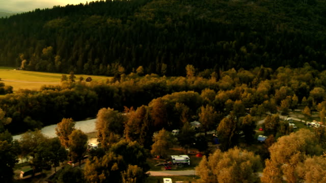 Beautiful Campground At Sunset video
