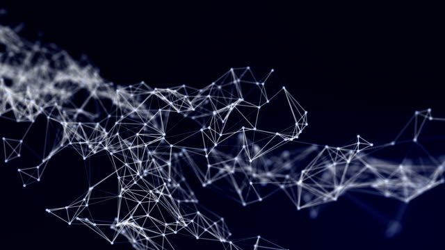 beautiful cg generated 3d abstract background with geometry lines and dots, futuristic network connection on white background - change stock videos & royalty-free footage