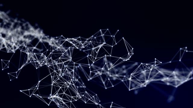 vídeos y material grabado en eventos de stock de hermosa cg generado fondo abstracto en 3d con geometría de líneas y puntos, conexión de red futurista sobre fondo blanco - change