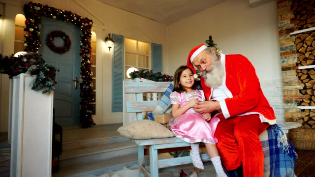 Beautiful child asking Father Christmas video