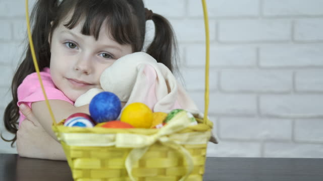 Beautiful child for the holiday of Easter.