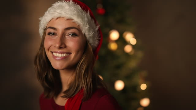 Beautiful Christmas babe video