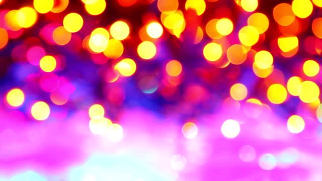 Schöne Weihnachten Hintergrund mit Unscharf gestellt Lichter – Video