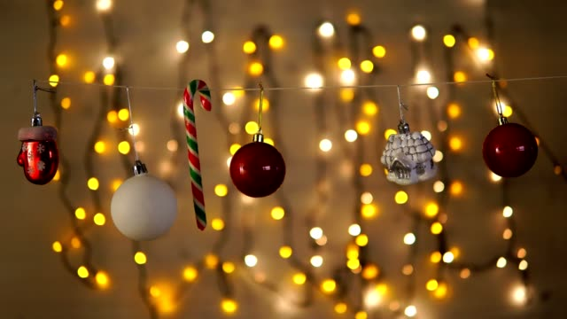 beautiful christmas ornaments in front of a christmas lights video - Beautiful Christmas Lights