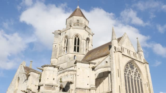 Beautiful church Mairie St Etienne le Vieux in the center of the city of Caen 4K Beautiful church Mairie St Etienne le Vieux in the center of the city of Caen 4K 2160p 30fps UHD footage - Ruins of Saint-Etienne-le-Vieux in Normandy Calvados by the day 4K 3840X2160 UltraHD video caen stock videos & royalty-free footage