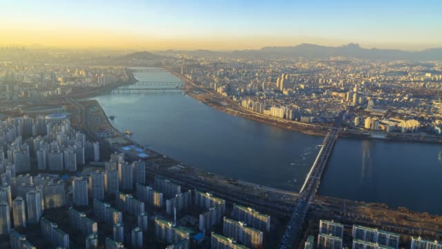Beautiful city in Sunset of Seoul City Skyline,South Korea.Timelapse 4k Beautiful city in Sunset of Seoul City Skyline,South Korea.Timelapse 4k namsan seoul stock videos & royalty-free footage