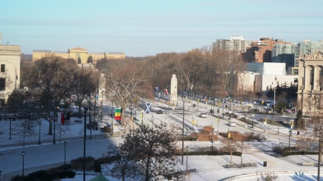フィラデルフィア、アメリカ合衆国の美しい街 - 十二月点の映像素材/bロール